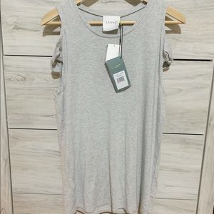 Lysee sleeveless basic tank top color gray size XS